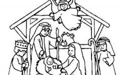 Print Christmas Nativity Scene Coloring Pages