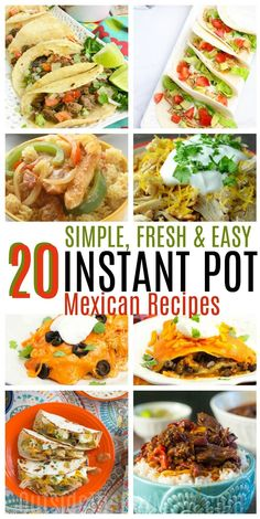 These instant pot Mexican recipes are 20 ways your Instant Pot can make tonight's dinner super easy. These recipes are better and faster than you can get to a Mexican restaurant! HOW TO MAKE INSTANT POT MEXICAN RECIPES AT HOME Mexican food takeout menus may be your go-to on busy evenings or late nights, but instead of throwing...Read More »