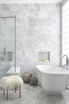 50 Beautiful Bathroom Ideas #marblebathroom