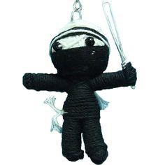 "Cute Black Ninja Cotton String Voodoo Doll Keyring Keychain Key Fob Tall 2""   eBay"