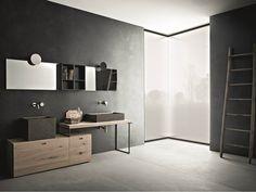 Arredo bagno completo CRAFT - COMPOSIZIONE N06 by NOVELLO design Stefano Cavazzana