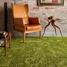 Amazing chenille Flor carpet squares (available in green or gray)
