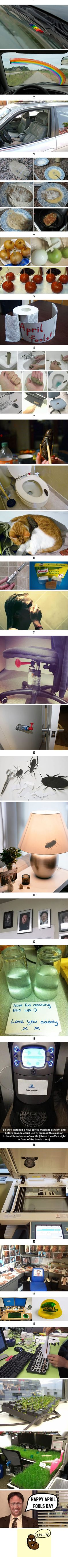 17 April Fools' Day ideas that are actually unforgivable 17 April Fools' Day ideas that are actually unforgivable - - pranks Good Pranks, Funny Pranks, Funny Jokes, Hilarious, Funny Commercials, 9gag Funny, Awesome Pranks, Kids Pranks, Text Pranks