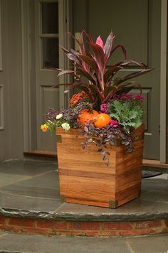 BEAUTIFUL fall container idea for the front porch. Description from pinterest.com. I searched for this on bing.com/images