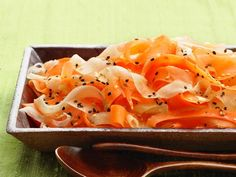Daikon-Carrot Salad: Use a vegetable peeler to slice carrots and daikon radishes into ribbons for this refreshing salad.