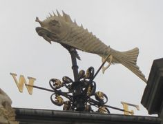 Weathervane at the old Billingsgate Fish Market, Lower Thames Street (click the image to read more from the HistoryLondon blog!)