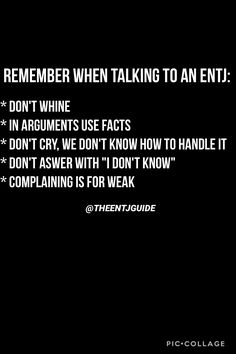 ENTJ GUIDE, follow @theentjguide on Instagram