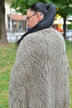 Women shawl Knitted shawl Knit shawl Knit wrap by HandmadeBNMB