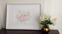 Loose flowers bouquet. Watercolor.  12x16.  Elbaquarella on Instagram.