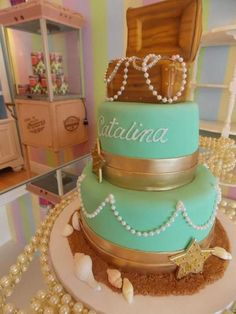 just pinning because it has MY NAME ON IT!!!!! and its a little mermaid cake. perfection.