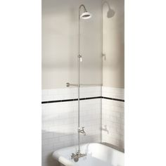 Wall Shower Set with Exposed Pipe Riser and Tub Filler | Signature Hardware