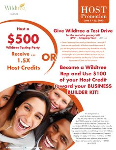 If you have ever considered the opportunity NOW is the time.....Only one week left....June 2012 Host Promotion!    www.Facebook.com/wildtreeofficial