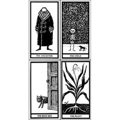 Edward Gorey makes mirth from a kaleidoscope of catastrophe with The Fantod Pack Tarot Cards, forecasting the future as interpreted by Madame Groeda Weyrd.