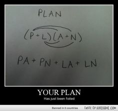 PLAN is actually P * L * A * N, but I'll ignore that for the pun.
