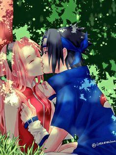 Sasuke and Sakura   Genin
