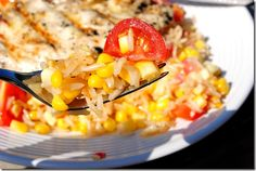 Grilled Lemon Chicken with Sweet Corn & Tomatoes