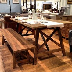 Ingolls Mango Wood table and bench from John Lewis. c.£570