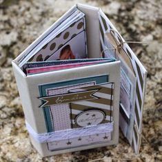 "Mini album ""Magique"" de Twibady - swirlcards - le blog Diy Crafts For Girls, Diy Arts And Crafts, Mini Album Scrapbook, Diy Scrapbook, Mini Album Tutorial, Album Book, Album Design, Day Planners, Recycled Art"