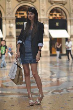 ...blazer with dress