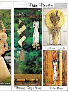 Macrame Owls + Wreaths • Vintage Macrame Owl Animal Zoo • Macrame Plant Hanger Wall Hanging Hanger •Pattern Book 70s Vintage Books PDF by TheStarShop on Etsy