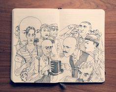 Impressive Sketchbook Illustration Drawings By Jared Muralt | http://www.123inspiration.com/impressive-sketchbook-illustration-drawings-by-jared-muralt/