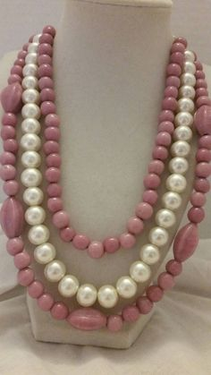 Check out this item in my Etsy shop https://www.etsy.com/listing/199784940/layered-necklace-pearl-necklace-pink