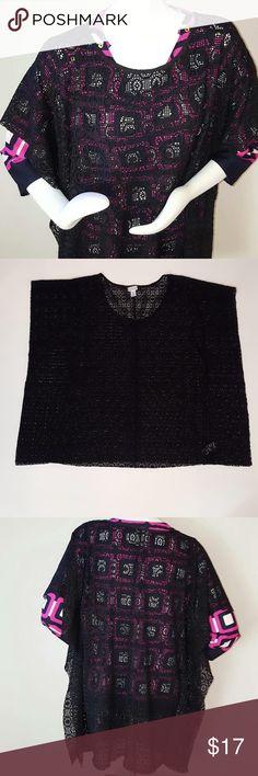 "SALEMotherhood Maternity Lace Sweater Motherhood Maternity Lace Sweater. Size Large. Color: black. Measurements: 34"" width, 32"" length. Motherhood Maternity Sweaters"