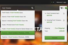 Search Field & Shopping Cart UI Design #ui #design #webdesign