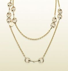 "horsebit necklace - 18 kt yellow gold, made in Italy, 35.4"" length, $7,500!!"