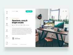 Reserve studio design in house - Daily UI Challenge 20/365 by Christian Vizcarra