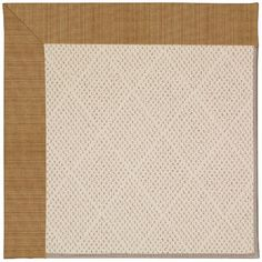 Capel Zoe Light Brown Area Rug Rug Size: Square 12'