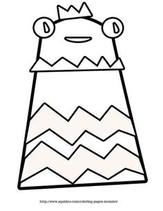 free printable monster coloring pages download