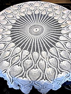 crochet tablecloth patterns instructions