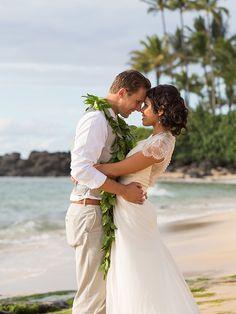 "Bridal Fashions: Jenny Packham ""Aspen"" – Le Salon Bridal Shop, Birmingham, Michigan (MI) | Ceremony Venue: Waimea Valley, Haleiwa, Hawaii (HI) | Reception Venue: Dillingham Ranch, Haleiwa, Hawaii (HI)| Photographer: Mark Holladay, Hawaii (HI)"