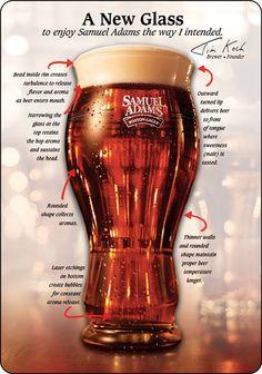 Samuel Adams custom beer glass. Nothing if not #revolutionary.  #punintended