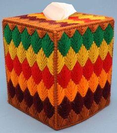 RAINBOW DIAMONDS Colorful Tissue Box Cover por NiftyStitches4U