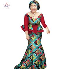 African women two piece o-neck print Skirt set african clothing plus s – Owame