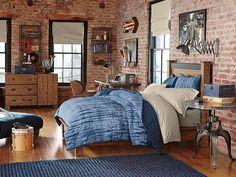 ides sur le thme chambre en brique pinterest - Chambre Ado Garcon Style Industriel