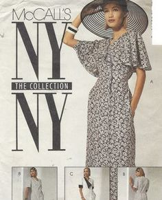 90s NY NY the Collection Womens Dress Side Buttoned by CloesCloset