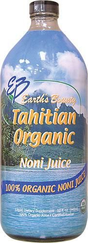 NONI Juice Organic Tahitian 32 Oz. by Earth's Bounty (ONLY Noni Juice ! )