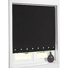 Hamilton Mcbride Aurora Square Eyelet Black Blind - 60x165cm