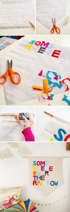 DIY No-Sew Banner, cute on a t shirt too