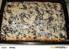 Hrníčkový borůvkový koláč na plechu recept - TopRecepty.cz