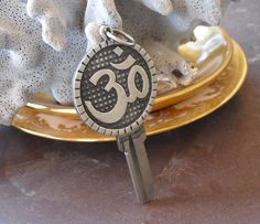 Sanskrit Om Key Pendant, Jewelry For Meditation, Resilience, Chanting, Spiritual Work, Hindu Ohm Pendant in Sterling Silver, Unisex Gifts Key Pendant, Pendant Jewelry, Oxidized Sterling Silver, Sterling Silver Jewelry, Fake Gauge Earrings, Jewelry Gifts, Unique Jewelry, Unisex Gifts, Key Design