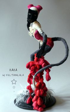 https://flic.kr/p/gEfWUB | Zaza | a needle felted art doll by FELTOOHLALA