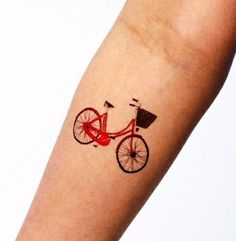 Cute bicycle tattoo ! http://tattoos-forever.blogspot.com/