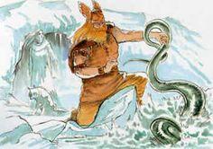 ANGRBODA-Giganta amante de Loki, com o qual gerou as três monstruosidades Jormungand (a serpente de Midgard), o lobo Fenrir e Hel (a Morte).