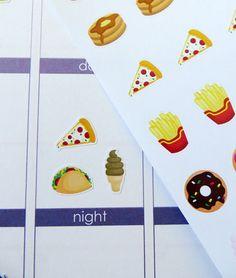 Food Asst. Planner Stickers for Erin Condren Planner, Filofax, Plum Paper