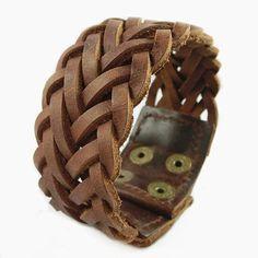 2014 New Jewelry Soft Brown Leather Women Leather Jewelry Bangle Cuff Bracelet Men Leather Bracelet by MayoyaRomanticManor, $7.99