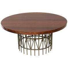Rosewood and Patinated Brass Coffee Table Designed by Milo Baughman   From a unique collection of antique and modern coffee and cocktail tables at http://www.1stdibs.com/furniture/tables/coffee-tables-cocktail-tables/